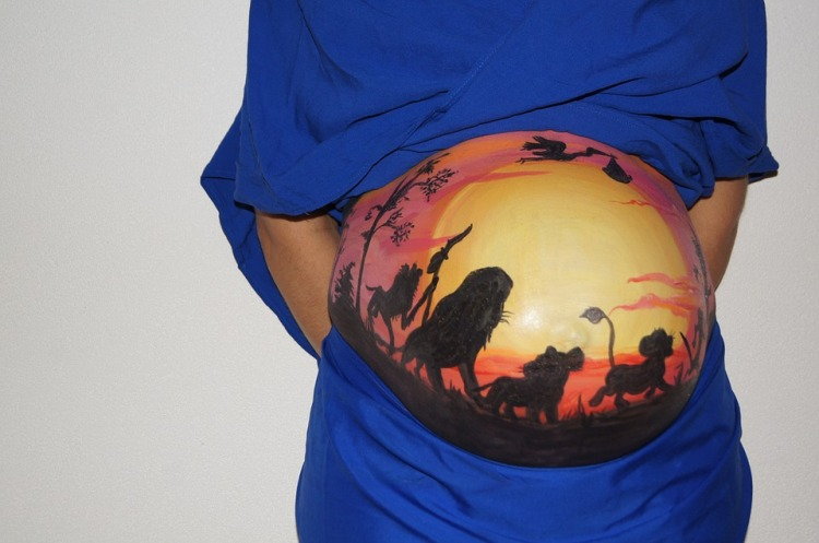belly-painting-409792_960_720